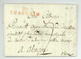 38 BEAUVAIS (Oise) – 1799 - Alencon - Drut Daboncour Renault - Directoire - Passeport - 1701-1800: Precursores XVIII