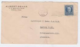 Cuba/Germany COVER 1922 - Cuba