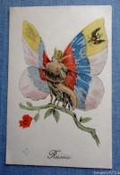 Femme Papillon  - Russie -  Editions Aux Alliés.  14/18 - War 1914-18