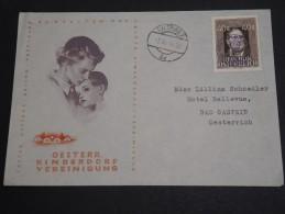 AUTRICHE - Enveloppe Par Ballon En 1948 , Affranchissement Plaisant - A Voir - L  3463 - 1945-.... 2ème République