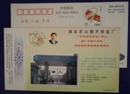 Chutian Barium Salt Plant,China 1996 Chuqi Chemical Company Advertising Pre-stamped Card - Chemistry