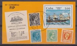 Cuba 1984 Espana '84 / Sailing Ship M/s Used (32440) - Blokken & Velletjes