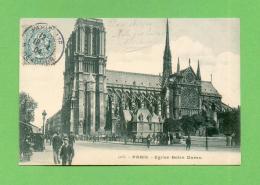 CPA  FRANCE  75  ~  PARIS 4e  ~  5166  Eglise Notre-Dame  ( Dos Simple 1904 )  Animée - District 04