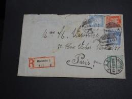 ALLEMAGNE - Enveloppe En Recommandée De Mannheim En 1925 Pour Paris - A Voir - L  3470 - Briefe U. Dokumente