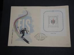 POLOGNE - Enveloppe FDC Thème Ski En 1962 - A Voir - L  3471 - FDC
