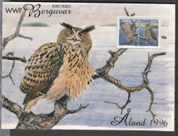 Aland 1996,folder WWF With Owls,uilen.eule,birds,vogels,vögel,oiseaux,pajaros,uccelli,aves,MNH/Postfris(L2640) - Birds