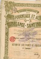 Hauts Fourneaux Et Aciéries De Rumllange Saint Ingbert - Industrie