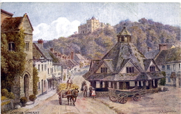 A R QUINTON - SALMON 1618 - DUNSTER SOMERSET - WITH HORSE AND CART - Quinton, AR