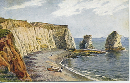 A R QUINTON - SALMON 1643 - THE CLIFFS, FRESHWATER BAY, ISLE OF WIGHT - Quinton, AR