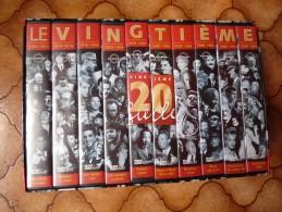 LE VINGTIEME SIECLE - 100 Ans D'images - Coffret De 10  K7 VHS - Documents D'archives - Nov' Edit Video - Histoire