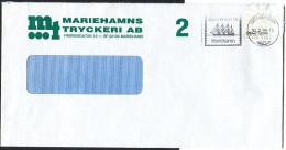 """(1662) Aland Bedarfsbrief MiNr 9 EF 2. Klasse, Vom 31.7.1985, Maschinenstempel """"Välkommen Till Mariehamn"""" - Aland"""