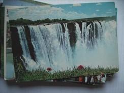 Africa Zimbabwe Waterfall Main Falls Victoria - Zimbabwe