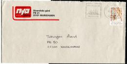 (1663) Aland Bedarfsbrief MiNr 42 EF, Vom 19.10.1990, Klüssendorf-Maschinenstempel (Werbeeinsatz Von 4-10/1990) - Ålandinseln