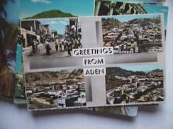 Asia Yemen Jemen Aden With Greetings - Yemen