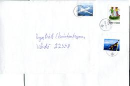 (1668) Aland 3 Bedarfsbrief Aus KÖKAR, VÄRDÖ, ÖDKARBY Mit Versch. Frankaturen, Flugzeug, Flagge, Fußball - Aland
