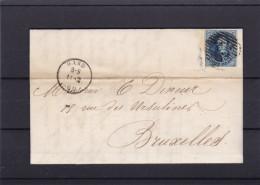 N° 11 A Margé /  LAC Du 14 Fev.1860 De Gand Vers BXL - 1858-1862 Medallions (9/12)