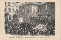 15 - AURILLAC - 13 Octobre 1912 - Remise De La Médaille De 1870 Aux Vétérans De La 803e Section - Aurillac