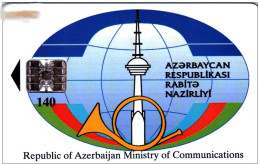 Azerbaijan, Ministry Of Communications, Cellphones - MOTORLLA  CHIP PHONECARD (LOT - 5 - 43 ) - Azerbaïjan