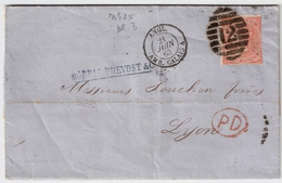 GB, 1863, Gute Marke, Nach Lyon , #6148 - Briefe U. Dokumente