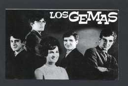 *Los Gemas* Al Dorso Firma Autógrafa. Impreso Promocional. Medidas: 102x157 Mms. - Autógrafos