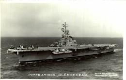 PORTE AVIONS CLEMENCEAU    Bateau, Barco Marine Militaire Bateaux Marime Militaire , Navire De Guerre - Warships