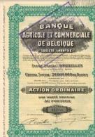 BANQUE AGRICOLE ET COMMERCIALE DE BELGIQUE - Banque & Assurance