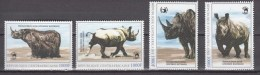 Central African Republic,4V ,set,rhino.neushoorn,nashorn,,World Of Wildlife Issue,MNH/Postfris(A2807)