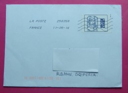 2016 TRAVELLED LETTER FROM FRANCE TO ALBANIA WITH ARRIVAL POSTMARKS. - Other