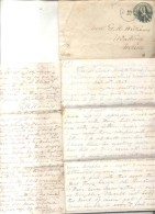 PANAMA 5 OF APRIL 1868 TO WINTHROP MAINE, NYFM FANCY CANCEL TRANSIT. LETTER FROM E.H. WILLIAMS PANAMA BRICK MANUFACTURIN - Panama