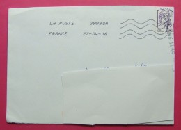 2016 TRAVELLED LETTER FROM FRANCE TO TUNIS WITH ARRIVAL POSTMARKS. - Other