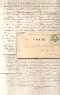 PANAMA 17 JUN 1866 NEW YORK STEAMSHIP & DUE 10 HANDSTAMP. LETTER FROM E. H. WILLIAMS, PANAMA BRICK MANUFACTURING CO. - Panama
