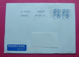 2016 TRAVELED PRIORITY  LETTER FROM FRANCE TO ALBANIA WITH ARRIVAL POSTMARKS. - Other