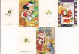 Lot De 3 Petites Cartes Cadeau -   Joyeux Noël    Père Noël, Cadeau, Disney - Noël