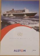 El2.n- Paquebot QUEEN MARY 2 Liner Cunard QM2 Cruises Bateau - Maritime & Navigational