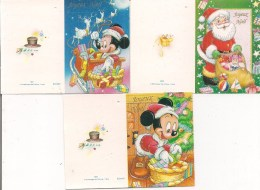 Lot De 3 Petites Cartes Cadeau -   Joyeux Noël    Père Noël, Cadeau, Winnie - Fiestas & Eventos