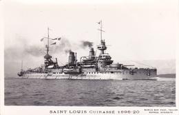 CUIRASSE SAINT LOUIS PHOTOGRAPHE TOULON MARIUS BAR LA CIGALE CROISEUR MARINE NAVIRE DE GUERRE PAQUEBOT BOAT TRANSPORT - Steamers