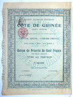 ACTION SOCIETE COLONIALE FRANCAISE DE LA COTE DE GUINEE  -  1906 TITRE 03219 - Afrique