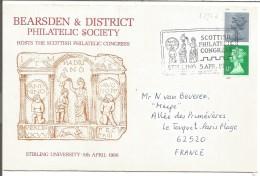 GB LETTRE DE GLASGOW POUR LA FRANCE 1986 - Poststempel