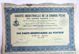 ACTION SOCIETE INDUSTRIELLE DE LA GRANDE PECHE MAURITANIE  -  1942 TITRE 02696 - Afrique