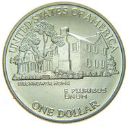 [NC]  EISENHOWER CENTENNIAL  ONE DOLLAR 1990 SILVER COIN - Emissioni Federali