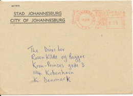 South Africa Cover With Meter Cancel Johannesburg 7-10-1975 Sent To Denmark - South Africa (1961-...)