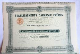 ACTION ETABLISSEMENTS DARRASSE FRERES  - 192? TITRE 055956 - Automobile