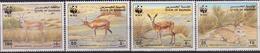Bahrain WWF Goitered Gazelle  SG#485/88 SC#408-11 MI#511-14 MNH - W.W.F.