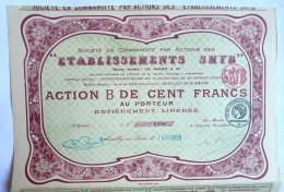 ACTION ETABLISSEMENTS SHYB  - 1925 TITRE 6280 - Other