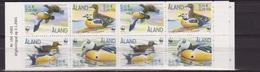 ALAND 2001 Stamp Booklet Polysticta Stelleri Eider Ducks MNH Birds WWF - W.W.F.