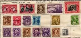 ANCIENNE COLLECTION DE TIMBRE - Stati Uniti