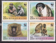 WWF - PAPIO MONKEY - REP. OF GUINEE - STAMPS - MNH - W.W.F.