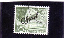 1950 Svizzera - Tecnica E Paesaggi - Servizio Soprastampato Officiel - Service