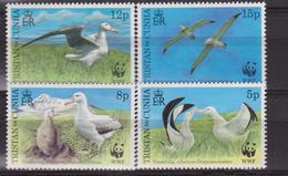 Tristan Da Cuhna 1999 Endangered Albatross Set Of 4 With WWF MNH - W.W.F.