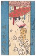 "Art Nouveau RAPHAEL KIRCHNER - BOZZETTO DISEGNATA A MANO - SAGGIO - Serie ""Mikado"" (unica Al Mondo) - Kirchner, Raphael"